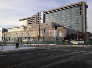 The new $1.75 billion dollar, 656 bed,  Humber River Hospital, is scheduled to open in 2015.