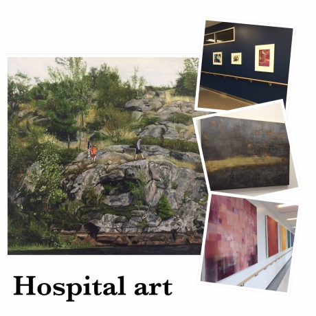 "DECK THE WALLS:  The subject matter of the art here signifies life and promotes healing, both physical and emotional.  The hospital's art council seeks art from locally and nationally recognized artists of significance.   The plan is to offer self-guided art tours so visitors can ""escape"" for a while, without leaving the building."