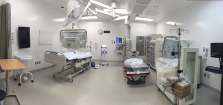 ALL NEW EQUIPMENT:  All of the equipment in the hospital is new.  Some of it is still in the packaging as you can see in this trauma room.