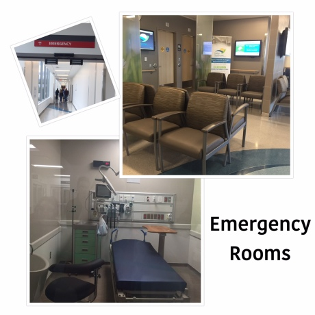 WAIT HERE: The waiting room in the hospital's Emergency Department has very few chairs.  When patients arrive, they will be triaged in one of 5 rooms and then head into a more appropriate waiting area like the one above.  Here patients can be monitored by staff, and have a little more privacy while they wait.