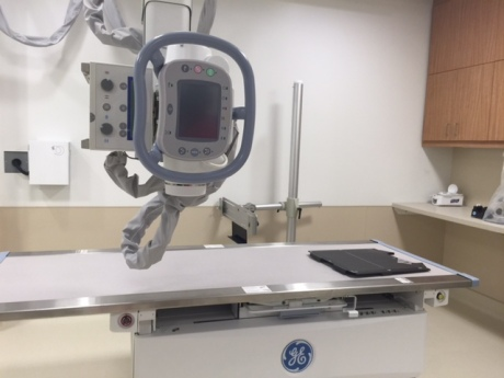 CONTINUOUS IMPROVEMENT: Through a partnership with GE, equipment will be maintained and replaced when they become outdated.   That means an x-ray machine like this one will be replaced in about 5-7 years.